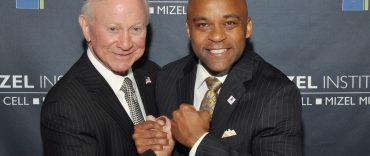 Larry A. Mizel and Mayor Hancock